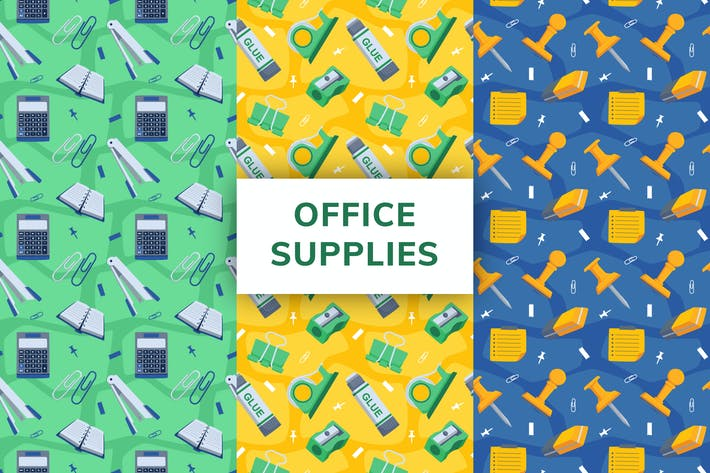Office Supply Seamless Pattern