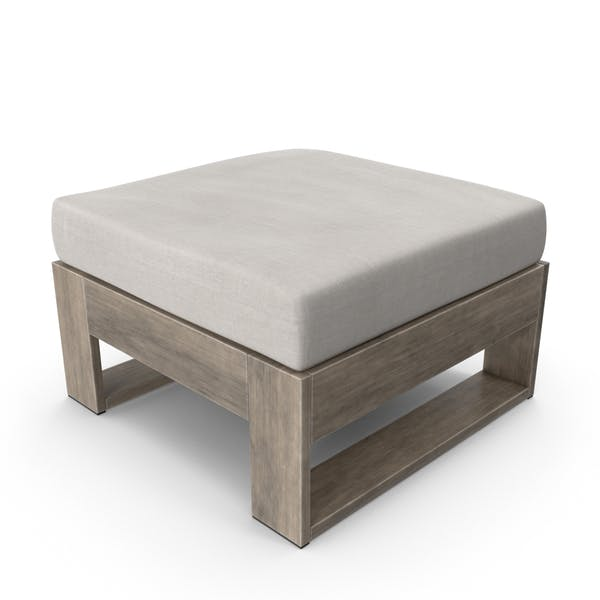 Thumbnail for Square Outdoor Ottoman Taupe