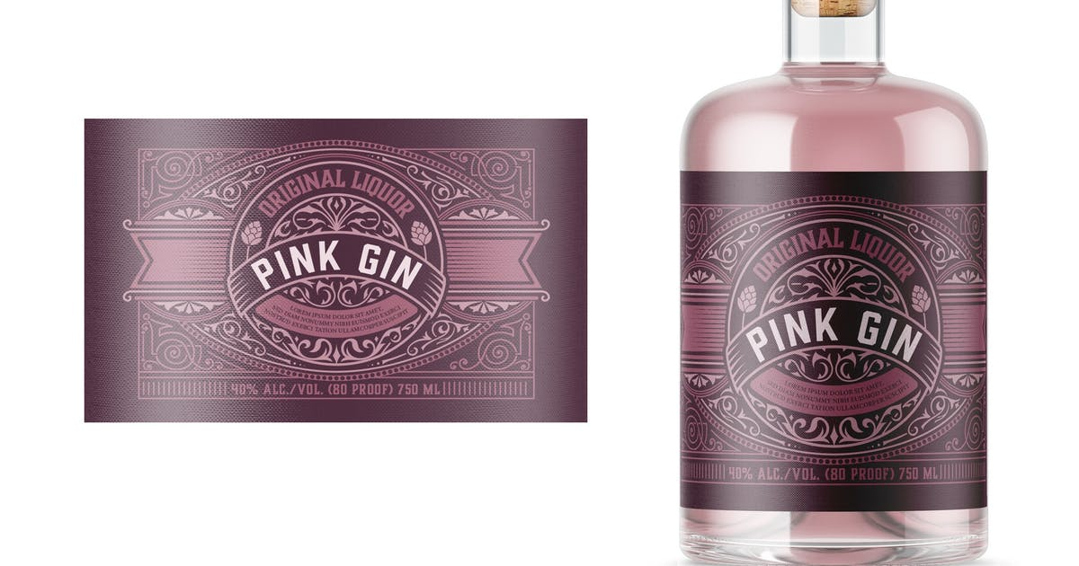 Download Vintage gin label layout by roverto007