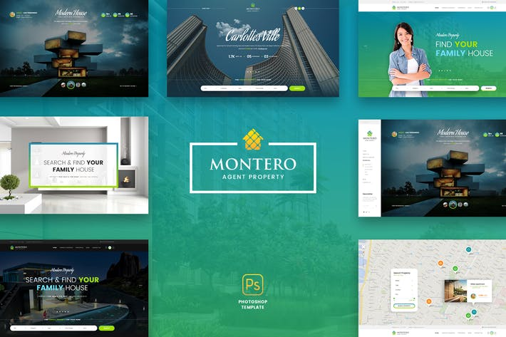 Thumbnail for Montero - Real Estate PSD Template