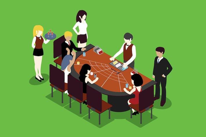 Thumbnail for Gambling Isometric Illustration - Li