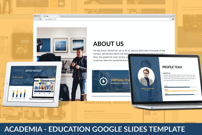 Thumbnail for Academia - Education Google Slides Template
