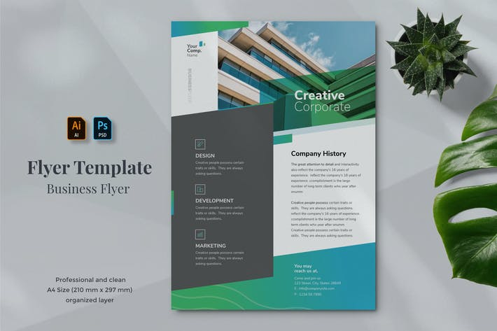 Thumbnail for Business Flyer Template 20