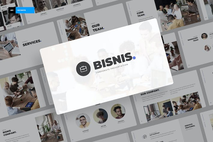Thumbnail for Bisnis - Corporate Keynote Template