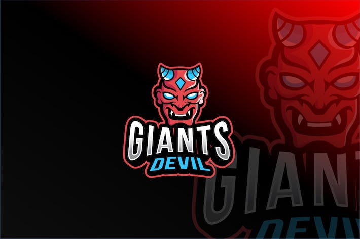 Thumbnail for Giants Devil Esport Logo Template