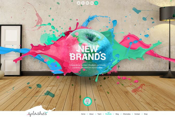 Thumbnail for Splashes PSD Template