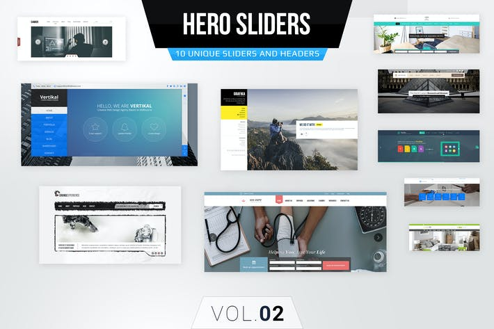 Hero Sliders Vol. 2