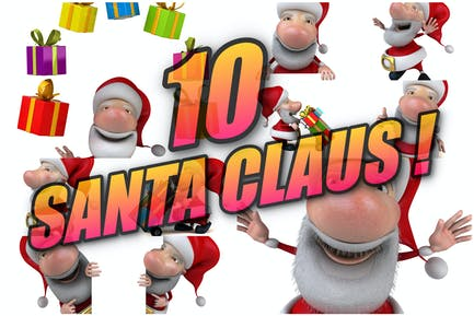 10 Weihnachtsmann!