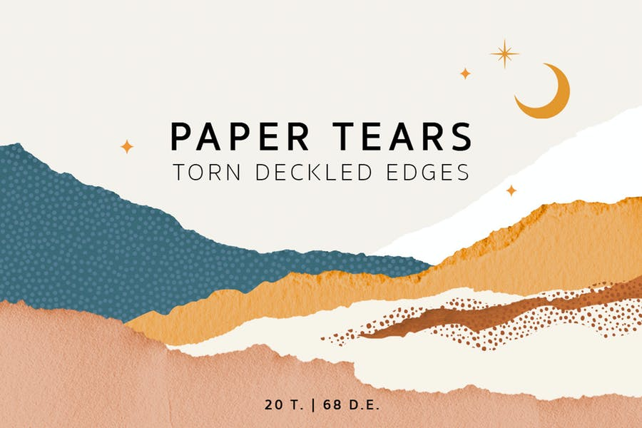 Zerrissene verdeckelte Papierkanten