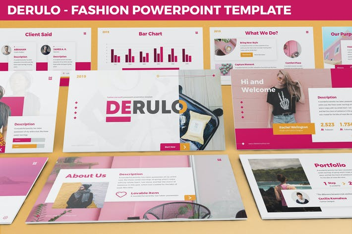 Thumbnail for Derulo - Fashion Powerpoint Template