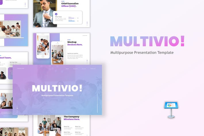 Thumbnail for Multivio - Business Keynote Template