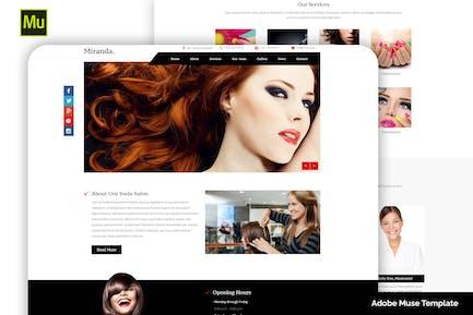 Miranda - Beauty and Nail Salon Muse Template