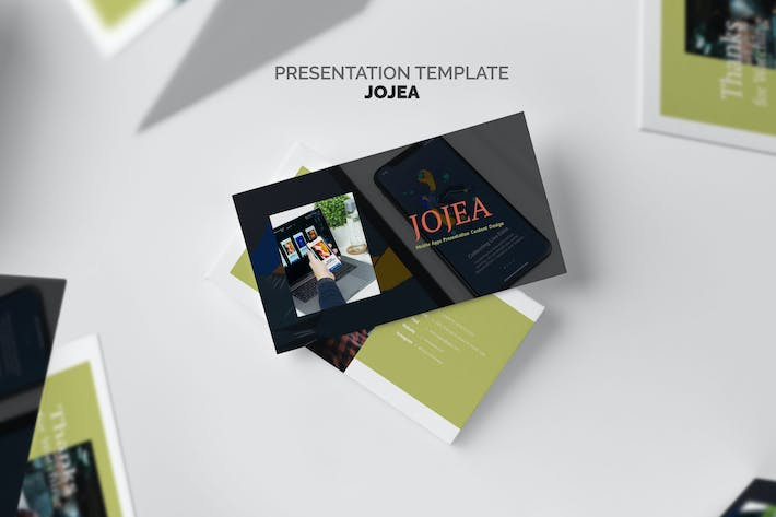 Thumbnail for Jojua : Mobile App Google Slides