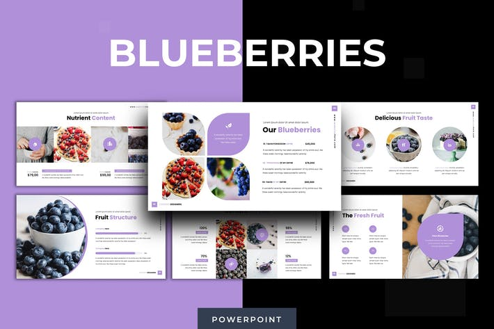 Thumbnail for Blueberries - Powerpoint Template