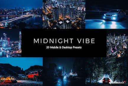 20 Midnight Vibe Lightroom Presets & LUTs