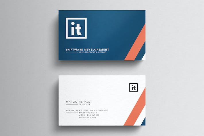 Information technology business card template by eightonesixstudios cover image for information technology business card template cheaphphosting