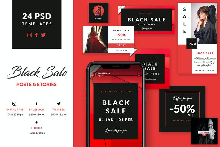 Cover Image For Black Sale - Social Media Booster Pack