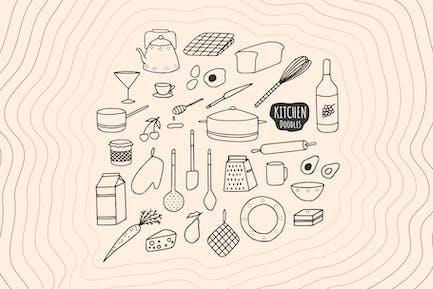 Küche Doodles