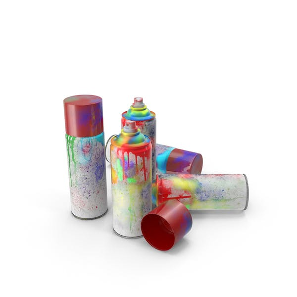 Dirty Spray Paint Cans