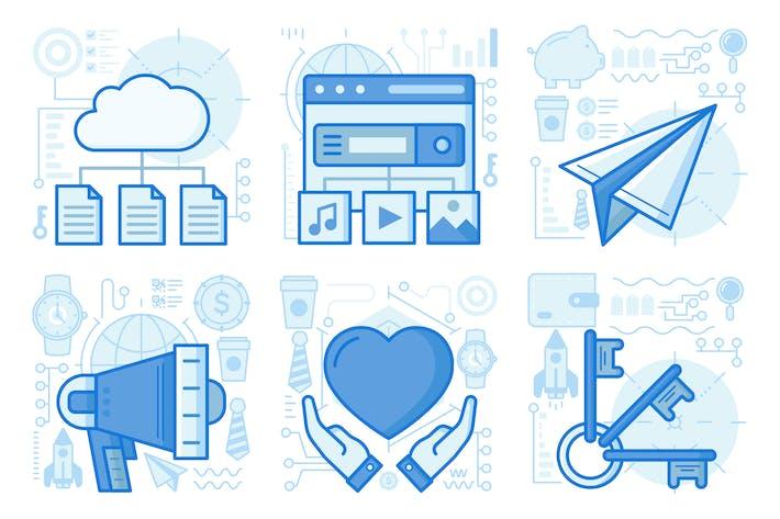 Thumbnail for Cloud Files UI UX Illustrations