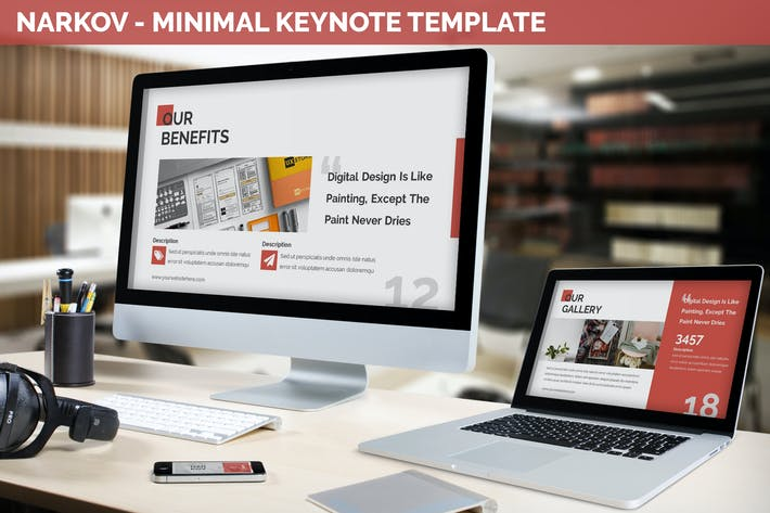 Thumbnail for Narkov - Minimal Keynote Template