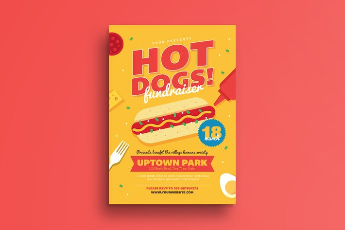 Hot Dog Fundraiser Flyer