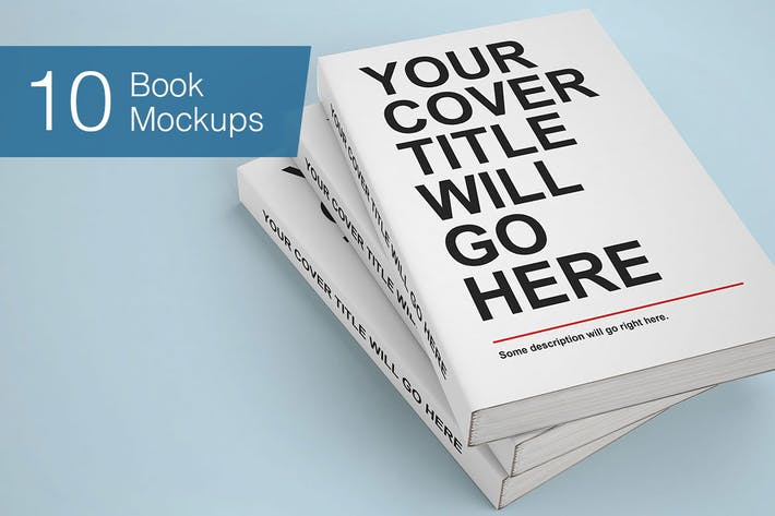 Cover Image For Book Mock-ups - 10 Poses