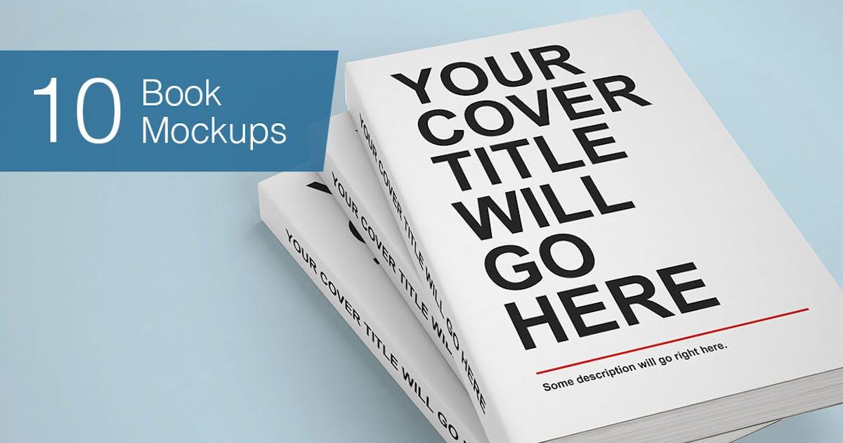 Download Book Mock-ups - 10 Poses by smartybundles