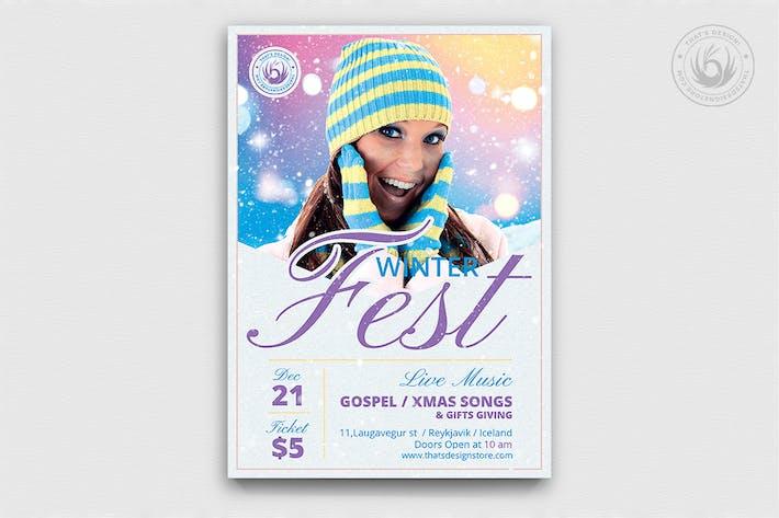 Thumbnail for Winter Festival Flyer Template V3