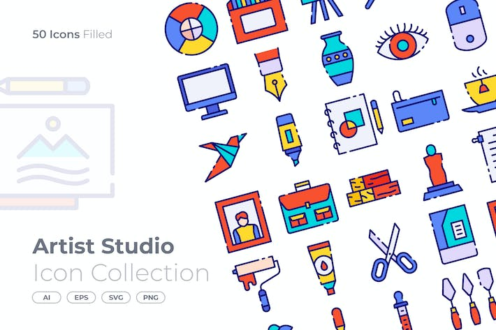 Thumbnail for Artist Studio Filled Icon
