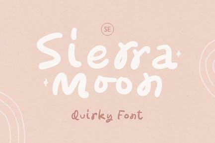 Sierra Moon - Quirky Handwritten Font