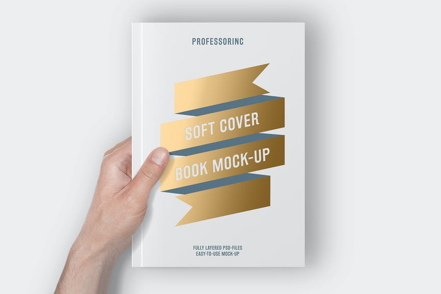 Soft Cover Book Mock-Up With Foil Stamping