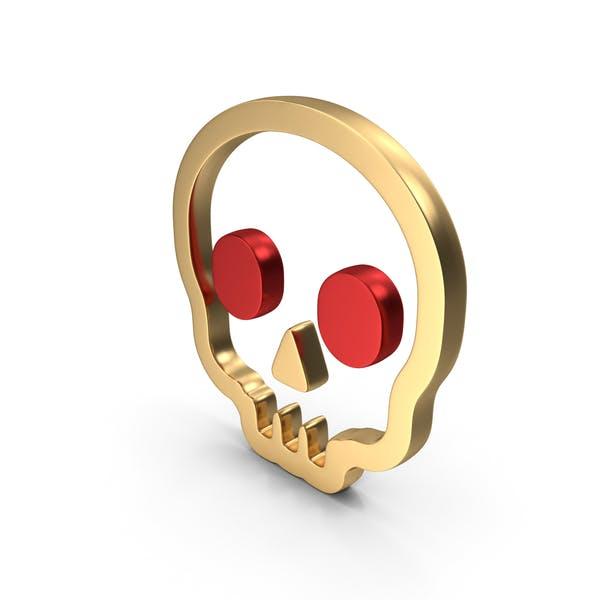 Icono del logotipo del peligro del cráneo