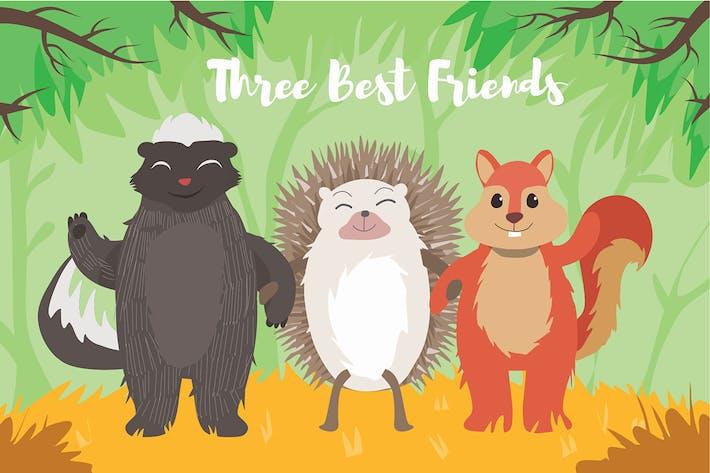 Thumbnail for Animals Best Friend - Vector Illustration
