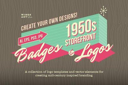 Diseños de Logo retro de los años 50.