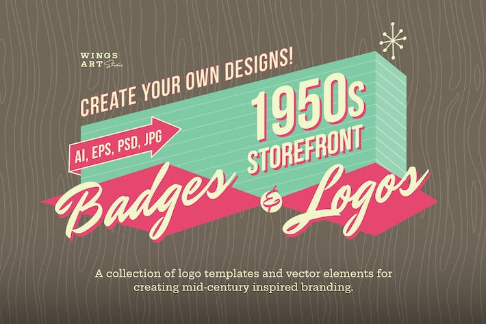 Thumbnail for 1950s Retro Logo Designs
