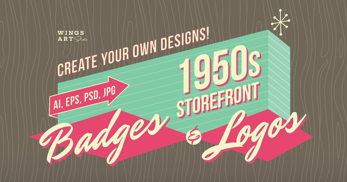 Download 1950s Retro Logo Designs by wingsart