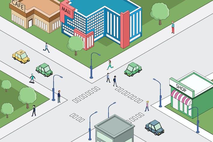 Thumbnail for Metropolitan Crossing Road Activity Illustration