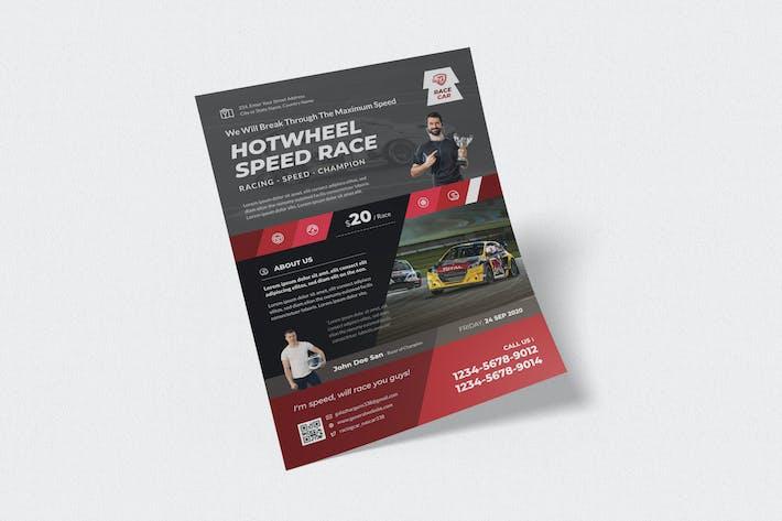 Thumbnail for Automotive Racing Flyer Design