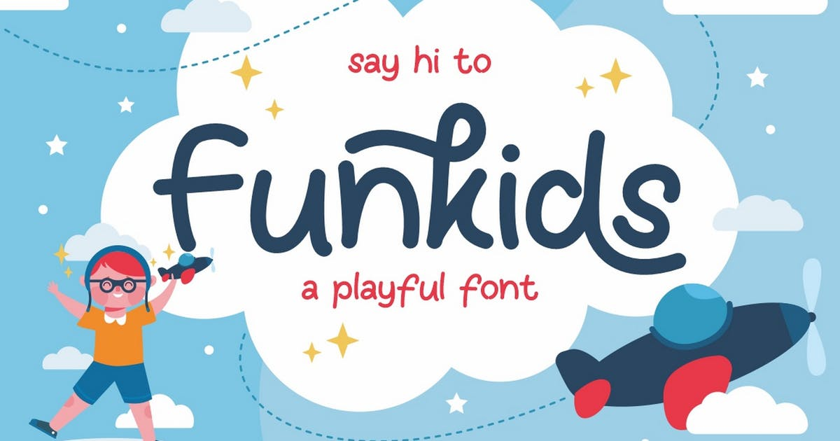 Download Fun Kids - Playful Font by Ahnaf-Studio