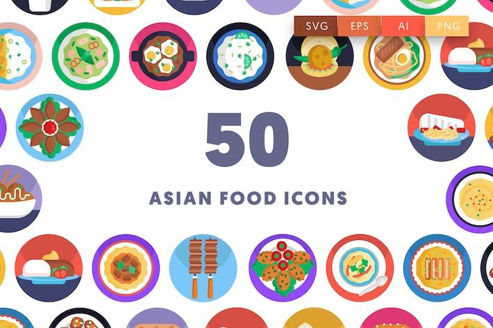 50 asiatische Lebensmittel-Ikon