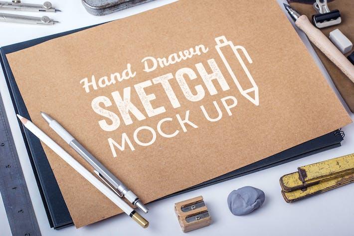 Thumbnail for Sketch Et Dessin Mockup Modèle #1