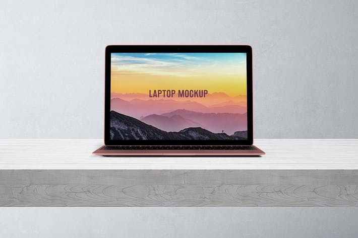 Thumbnail for 14x9 Laptop Screen Mock-Up - Rose Gold