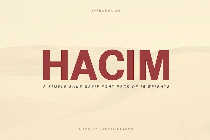Thumbnail for Hacim Simple Sans Serif Font Family