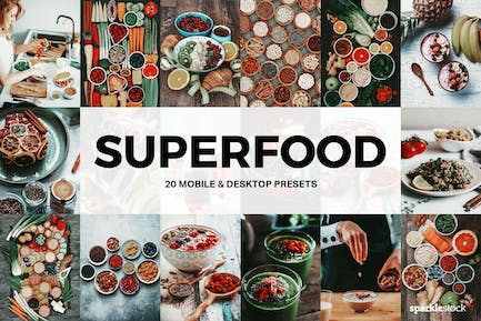 20 Superfood Lightroom Presets and LUTs