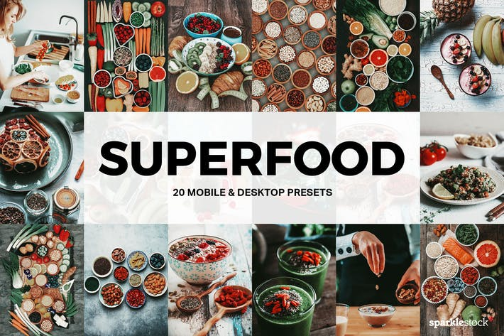 Thumbnail for 20 пресетов и LUT Superfood Lightroom