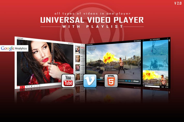 Thumbnail for Universal Video Player - WordPress Plugin