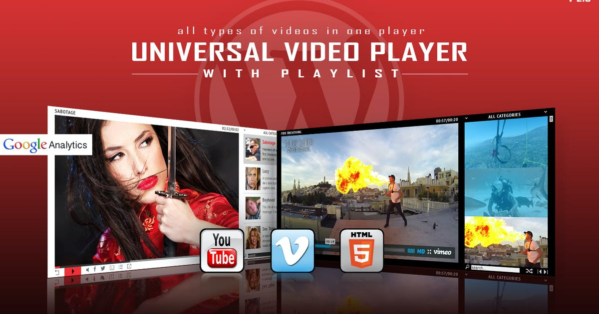 Download Universal Video Player - WordPress Plugin by LambertGroup