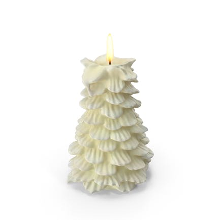 Baumförmige Kerze