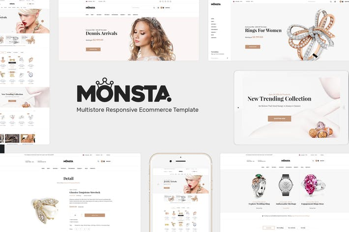 Cover Image For Monsta - Jewelry WooCommerce WordPress Theme
